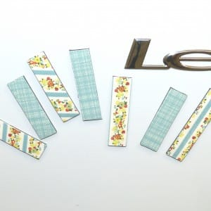 Washi tape flexible magnetic strips