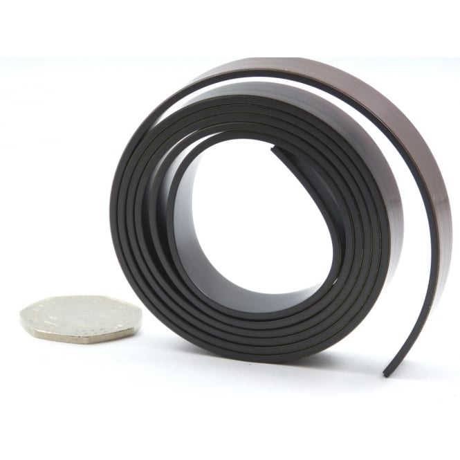 12.5mm wide flexible self adhesive magnetic strip - by the metre