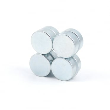 15 mm x 5 mm N35H, high temperature, Zinc plated neodymium disks