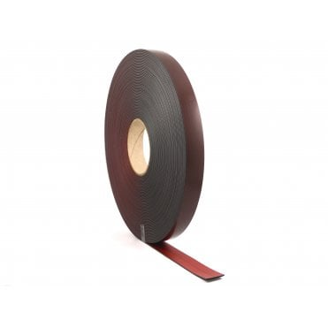 25mm wide RED COATED flexible self adhesive magnetic strip 30 metre reel - B form