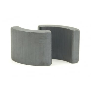 27.3mm Outer R x 20.3mm IR x 88 degree x 27mm thick C8 ferrite arc segment - PAIRS
