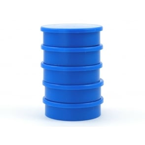 31.2mm x 8.8mm office magnet pack of 5- all BLUE