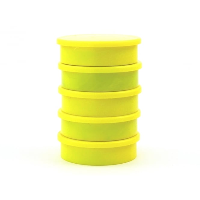 Guy's Magnets 31.2mm x 8.8mm office magnet pack of 5- all YELLOW