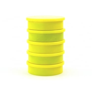 31.2mm x 8.8mm office magnet pack of 5- all YELLOW