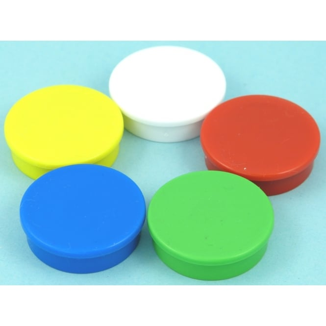 Guy's Magnets 31.2mm x 8.8mm office magnet pack of 5 Mixed Colours