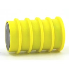 31.2mmx 9.5mm office magnet pack of 5- all YELLOW