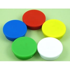 31.2mmx 9.5mm office magnet pack of 5 Mixed Colours