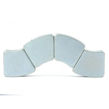 32.5mm Outer R x 14.75mm IR x 30 degree x 2.2mm thick N30H arc segment