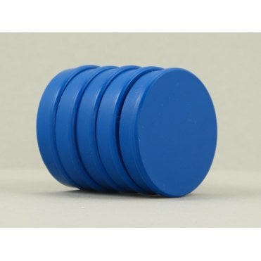 35mm x 7mm office magnet pack of 5- all BLUE