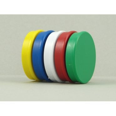 35mm x 7mm office magnet pack of 5 Mixed Colours