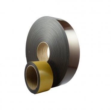 50mm wide flexible self adhesive magnetic strip - by the metre - A Form