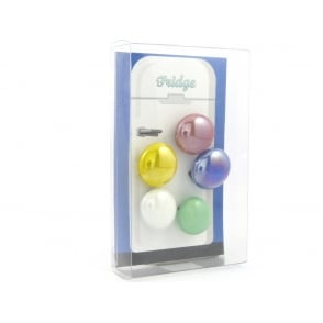 Glass Pebble fridge /whiteboard magnets MIXED - pack 5