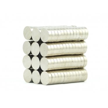 10 mm x 3 mm N38 grade disk - PACK OF 5