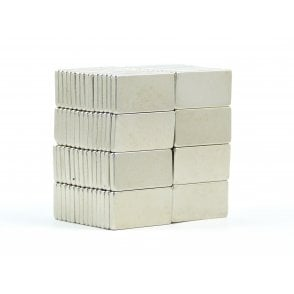 20 mm x 10 mm x 2 mm N38 grade block - PACK OF 5
