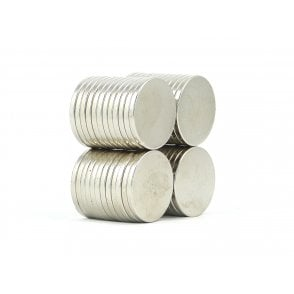 20 mm x 2 mm N38 grade disk - PACK OF 5