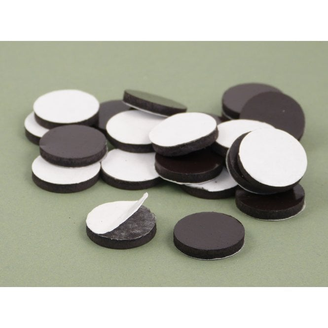 Guy's Budget Range 20 mm x 3 mm self adhesive flexible magnetic disk - PACK OF 10
