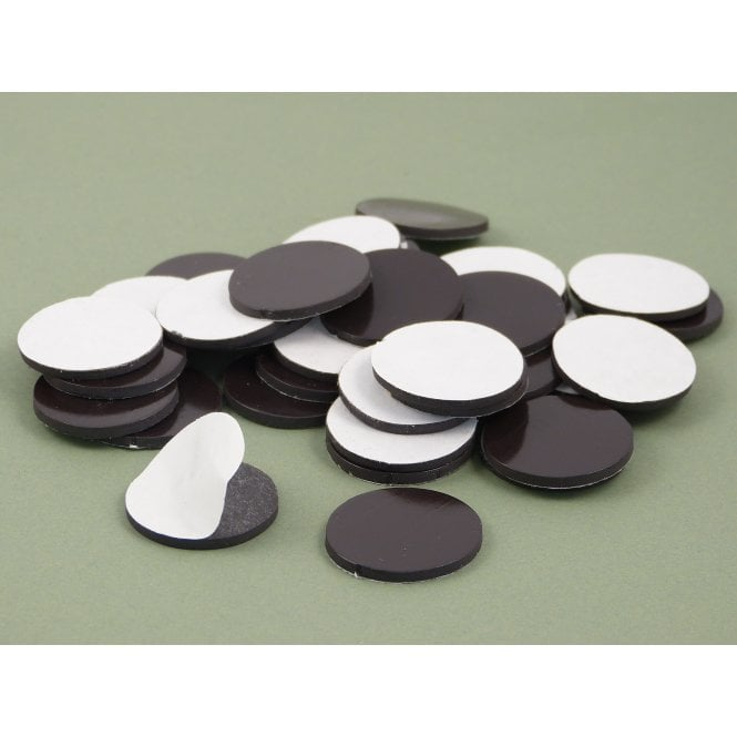 Guy's Budget Range 25 mm x 2 mm self adhesive flexible magnetic disk - PACK OF 25