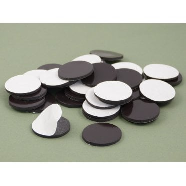 25 mm x 2 mm self adhesive flexible magnetic disk - PACK OF 50