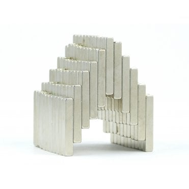 25 mm x 4 mm x 4 mm N38 grade block - PACK OF 10