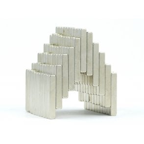 25 mm x 4 mm x 4 mm N38 grade block - PACK OF 25