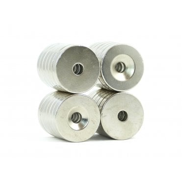 25 mm x 5 mm N38 grade countersunk ring 5.5 mm countersunk hole - PACK OF 1