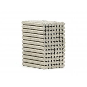3 mm x 2 mm N38 grade disk - PACK OF 100