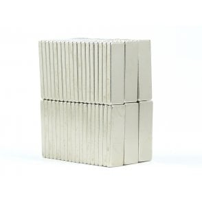 30 mm x 10 mm x 3 mm N38 grade block - PACK OF 5