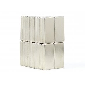 30 mm x 15 mm x 5 mm N38 grade block - PACK OF 1