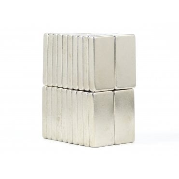 30 mm x 15 mm x 5 mm N38 grade block - PACK OF 10