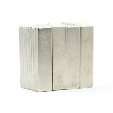 40 mm x 10 mm x 3 mm N38 grade block - PACK OF 5
