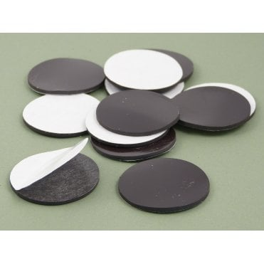 40 mm x 2 mm self adhesive flexible magnetic disk - PACK OF 100