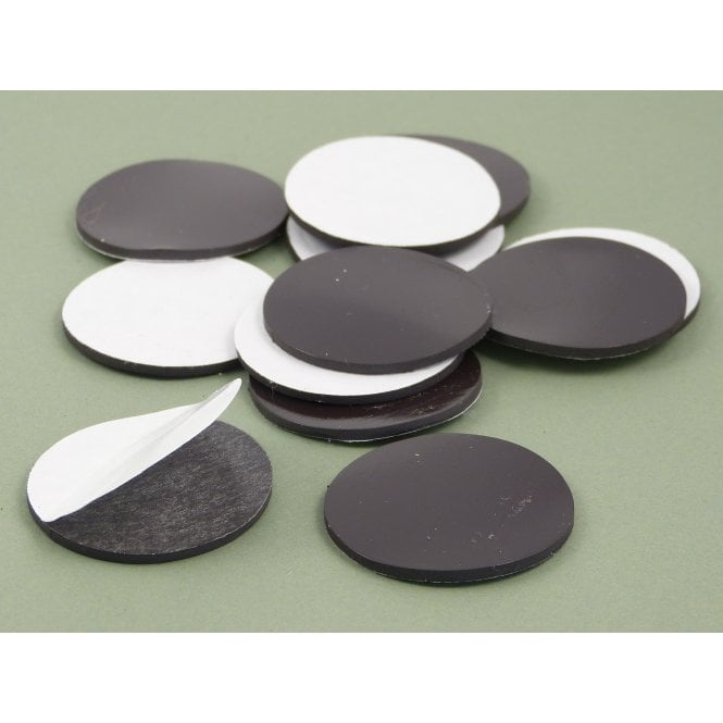 Guy's Budget Range 40 mm x 2 mm self adhesive flexible magnetic disk - PACK OF 25