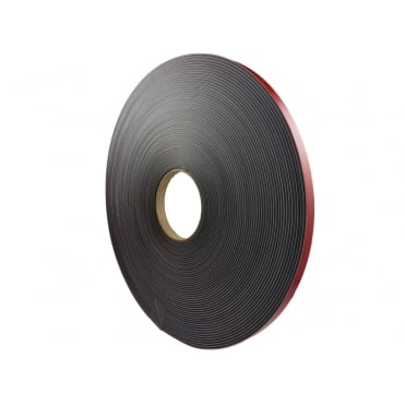 12.5mm wide foam backed flexible self adhesive magnetic strip 30 metre reel