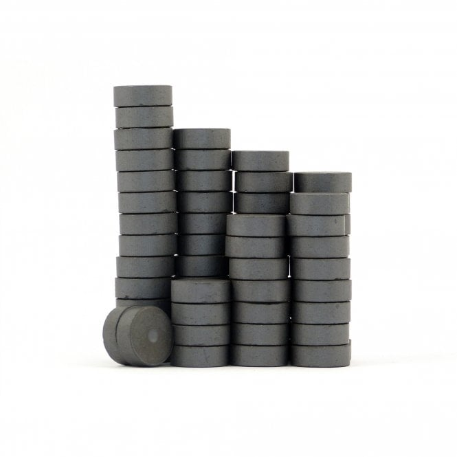 Guy's Magnets 14 mm x 5 mm C1 multipolar ferrite craft disk