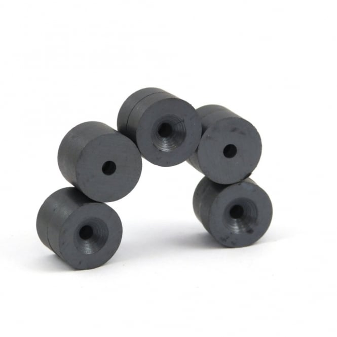 Guy's Magnets 15.2mm x 3.2mm x 6mm C5-Y25 Countersunk ferrite rings - CS face North