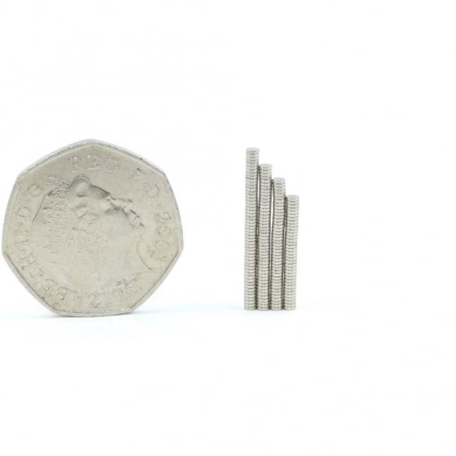 Guy's Magnets 2 mm x 0.5 mm N52 high grade neodymium disk