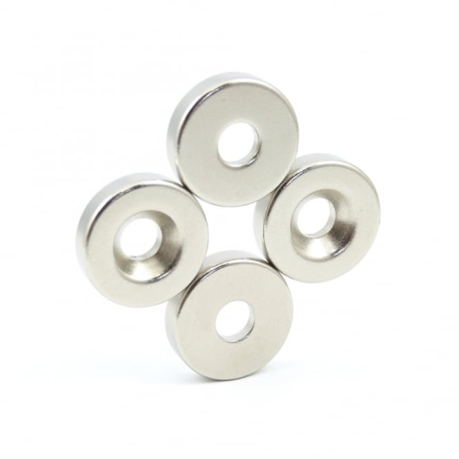 Guy's Magnets 20 mm x 6.4 mm x 5 mm countersunk neodymium ring
