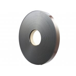 24mm wide flexible self adhesive magnetic strip 30 metre reel - A form