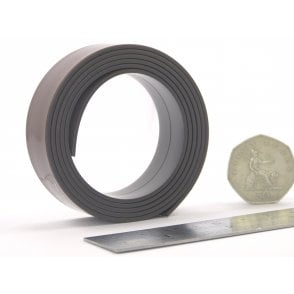 24mm wide flexible self adhesive magnetic strip - by the metre