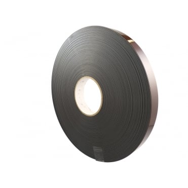 25mm wide flexible self adhesive magnetic strip 30 metre reel - A form