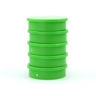 31.2mm x 8.8mm office magnet pack of 5- all GREEN