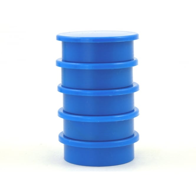 Guy's Magnets 31.2mmx 9.5mm office magnet pack of 5- all BLUE