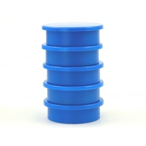 31.2mmx 9.5mm office magnet pack of 5- all BLUE
