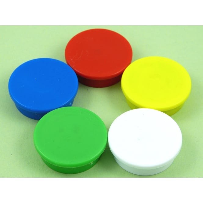 Guy's Magnets 31.2mmx 9.5mm office magnet pack of 5 Mixed Colours