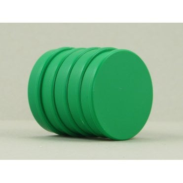 35mm x 7mm office magnet pack of 5- all GREEN