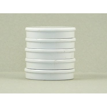 35mm x 7mm office magnet pack of 5- all WHITE