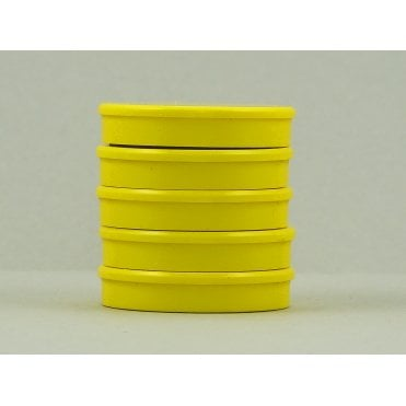 35mm x 7mm office magnet pack of 5- all YELLOW