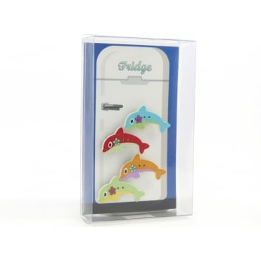 Dolphin fridge magnets - box of 4