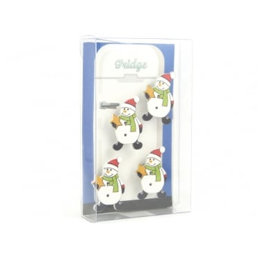 Snowman fridge magnets - box of 4