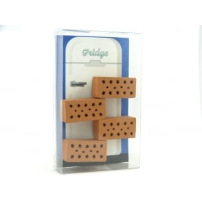 Terracotta Brick Fridge Magnets - box of 4